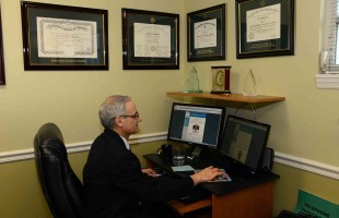 Doctor Bendetowicz, MD PA in his office